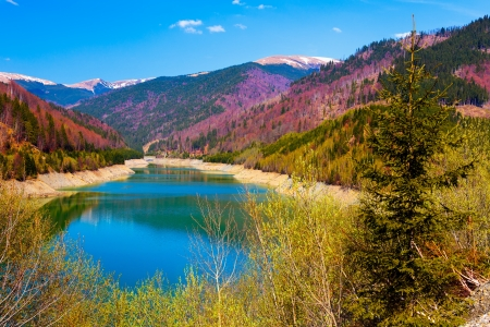 Landscape with lake and mountains Stock Photo - 13655010