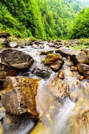Landscape with river flowing through rocks Stock Photo - 13815111
