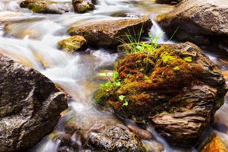 Landscape with river flowing through rocks Stock Photo - 13815056