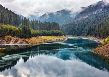 Landscape with lake Galbenu in Parang mountains in Romania Stock Photo - 13820576