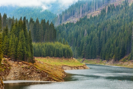 Landscape with lake Galbenu in Parang mountains in Romania Stock Photo - 13820578