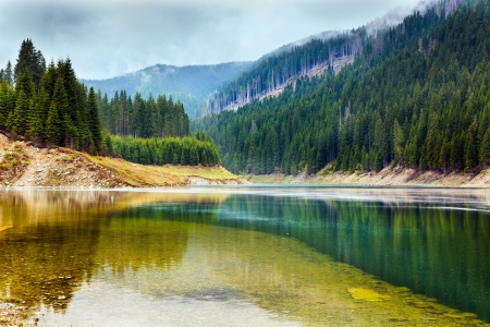 Landscape with lake Galbenu in Parang mountains in Romania Stock Photo - 13820583