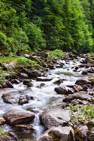 Landscape with river flowing through rocks Stock Photo - 13970554