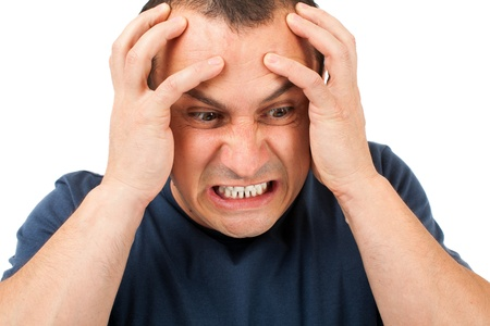 Portrait of an extremely angry young man Stock Photo - 15609958
