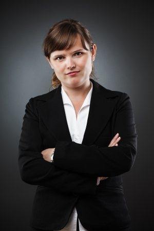 Studio portrait of a young businesswoman Stock Photo - 15609921