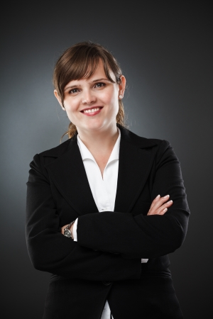 Studio portrait of a young businesswoman Stock Photo - 15609935