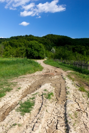 Landscape with a dirt road in the countryside Stock Photo - 15662431