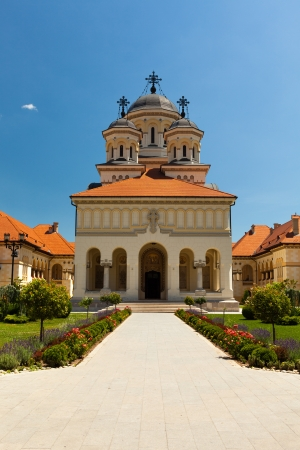 archbishop: The Coronation Archbishop Cathedral in Alba Iulia, Romania