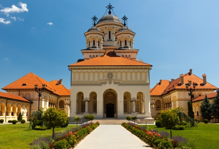 alba: The Coronation Archbishop Cathedral in Alba Iulia, Romania
