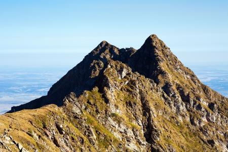 fagaras: Paesaggio di montagne Fagaras in Romania, in un giorno d'estate