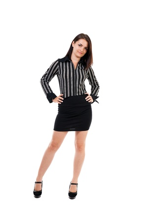 Full length portrait of a businesswoman standing with hands on hips Stock Photo - 15894192