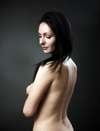 Studio portrait of a beautiful woman's back Stock Photo - 16324176