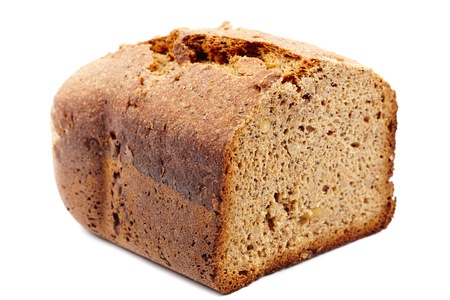 Homemade whole grain bread isolated on white background Stock Photo - 17324640