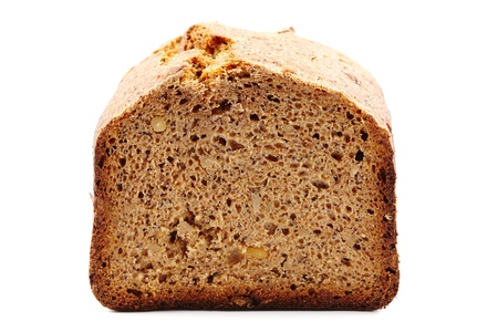 Homemade whole grain bread isolated on white background Stock Photo - 17324672