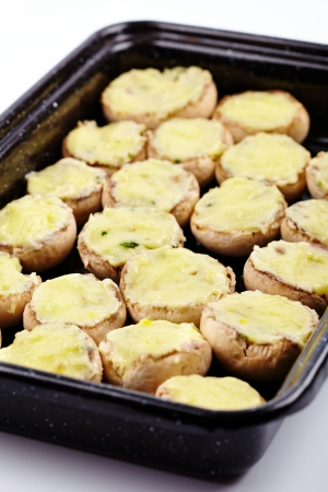 Mushrooms stuffed with cheddar cheese and herbs Stock Photo - 17324572