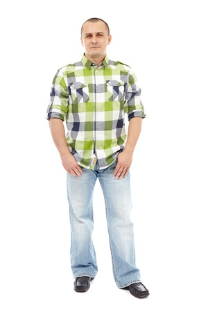 Man with his hands in his pockets, full length Stock Photo - 17605342