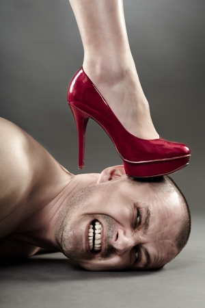 dominare: Closeup di una donna