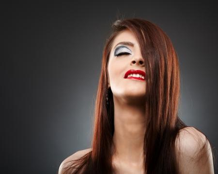Glamour closeup of a young woman with beautiful makeup Stock Photo - 20245030