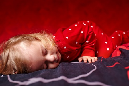 naptime: Portrait of a lovely girl toddler sleeping Stock Photo