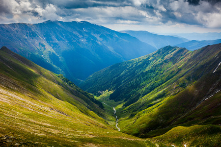 fagaras: Landscape with the spectacular Fagaras mountains in Romania