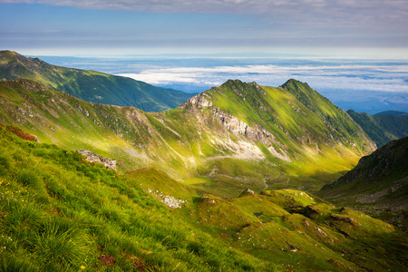 fagaras: View of the spectacular Fagaras mountains in Romania Stock Photo