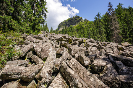 mineralogy: Landscape with Detunatele massif from Apuseni mountains, Romania - a unique mineralogy phenomenon