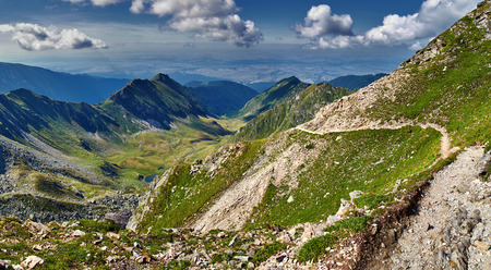 ridges: Majestic view of a lake between mountain ridges Stock Photo