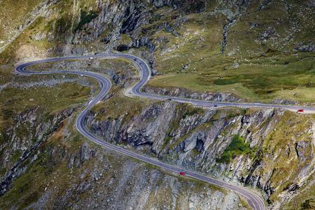transfagarasan: Landscape with Transfagarasan highway in Romania crossing the mountains