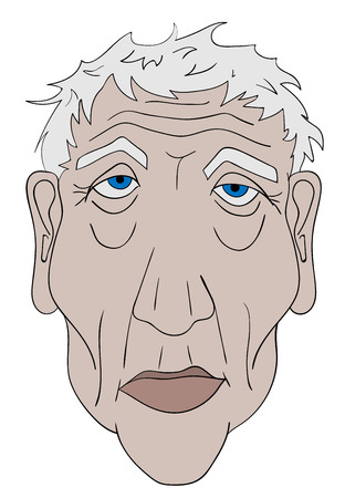 wrinkle: illustration of the face of an old man