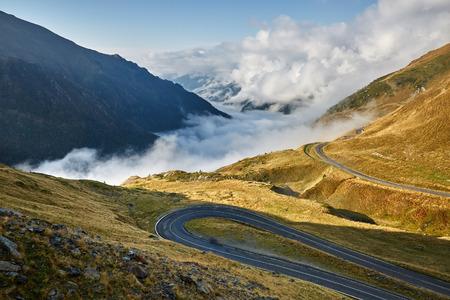 transfagarasan: Landscape with Transfagarasan highway in Romanian mountains
