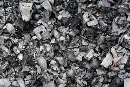 burnt wood: Closeup of burnt wood turn into charcoal
