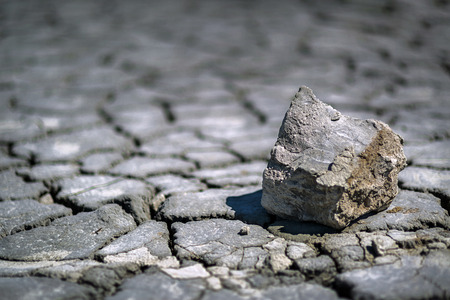 waterless: Closeup of dry cracked soil in a hot summer day