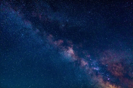 hemisphere: Milky Way galaxy, the visible part in the Northern hemisphere Stock Photo