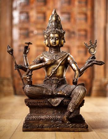 statuette: Ancient bronze statuette of the god Shiva