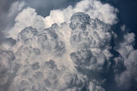 tele: Cloudscape with very big cumulonimbus clouds shot with a long tele Stock Photo