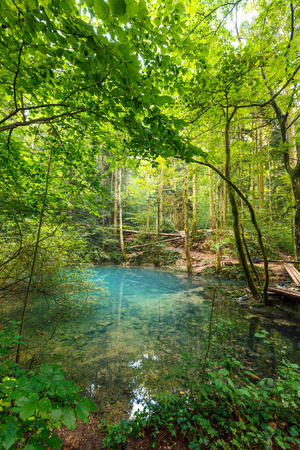 hydrological: Ochiul Beiului lake in Romania, on Nerei Canyon