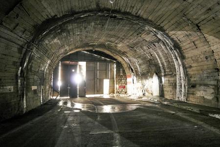 Tunnel going through the mountains