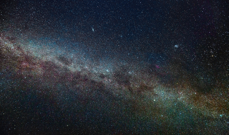 Nightscape with Milky Way in the Northern hemisphere during winter