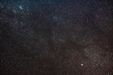 Night sky with stars and part of the Milky Way Banque d'images