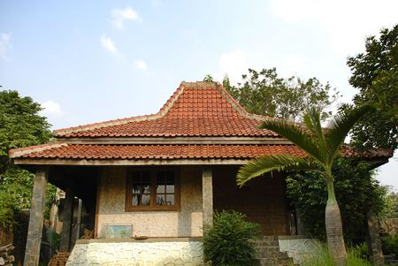 javanese: javanese tropical house at the mountain Stock Photo