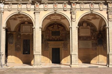 Archiginnasio of Bologna  Emilia-Romagna  Italy