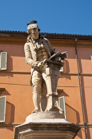 physiologist: Luigi Galvani statue in Bologna, Italy  Famous physician and physicist Stock Photo