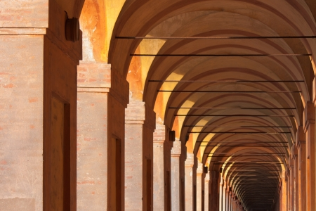 bologna: San Luca arcade is the longest porch in the world. Bologna, Italy