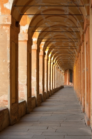 San Luca arcade is the longest porch in the world. Bologna, Italy Reklamní fotografie - 21979635
