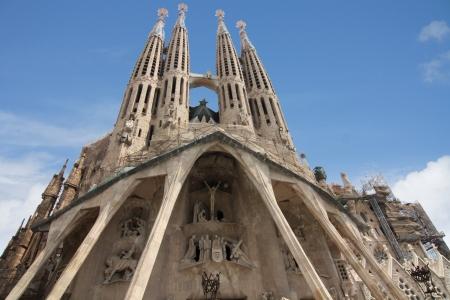 familia en la iglesia: Sagrada Familia, Barcelona, ??España.