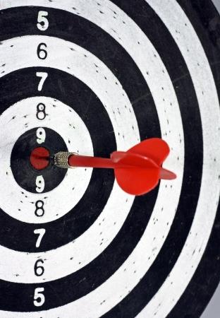 precise: dart in centre