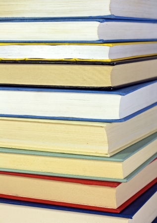syllabus: colored books isolated - still life  Stock Photo