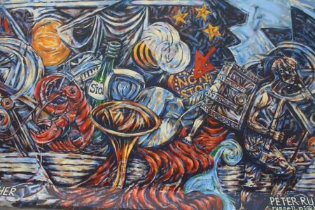 socialism: east side wall of berlin wall