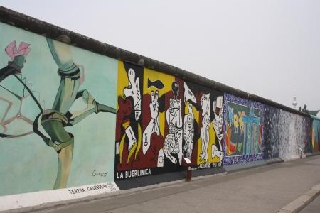 east berlin: east side gallery of berlin wall