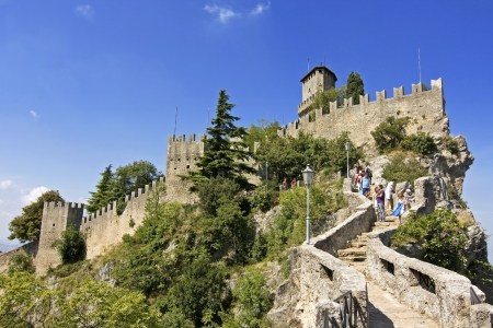Castle della Guaita in the old town of San Marino